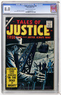 Golden Age (1938-1955):Crime, Tales of Justice #64 (Atlas, 1957) CGC VF 8.0 Cream to off-white pages....