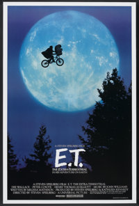 "E.T. The Extra-Terrestrial (Universal, 1982). One Sheet (27"" X 40.5"") Bicycle Style. Science Fiction"