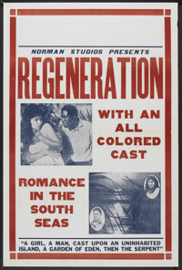 "Regeneration (Norman, 1923). Lobby Card Set of 8 (11"" X 14"") and One Sheet (28"" X 42""). Black Films..."