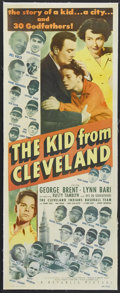 "Movie Posters:Sports, The Kid From Cleveland (Republic, 1949). Insert (14"" X 36""). Sports...."