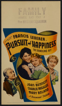 """The Pursuit of Happiness (Paramount, 1934). Midget Window Card (8"""" X 14""""). Comedy"""