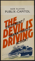 """Movie Posters:Crime, The Devil is Driving (Paramount, 1932). Midget Window Card (8"""" X14""""). Crime...."""