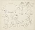 animation art:Production Drawing, Flip the Frog Sketch Original Art (undated)....