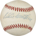 Autographs:Baseballs, Eddie Mathews Single Signed Baseball. ...