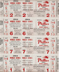 Baseball Collectibles:Tickets, 1964 Philadelphia Phillies Phantom World Series Tickets Framed....