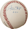 Autographs:Baseballs, Willie Mays Single Singed Baseball With Inscription....