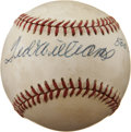 Autographs:Baseballs, Ted Williams Single Signed Baseball With 500 Home Run Club Inscription....