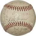 Autographs:Baseballs, 1945 Brooklyn Dodgers Team Signed Baseball. ...