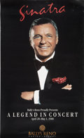 Movie/TV Memorabilia:Autographs and Signed Items, Frank Sinatra Vintage Reno Concert Poster....
