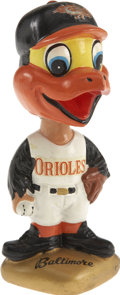 Baseball Collectibles:Others, 1966-71 Baltimore Orioles Gold Base Bobble Head....