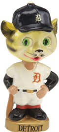 Baseball Collectibles:Others, 1966-71 Detroit Tigers Gold Base Bobble Head....