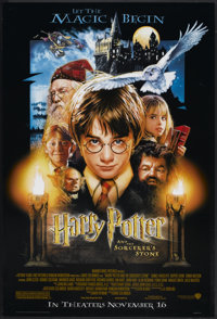 """Harry Potter and the Sorcerer's Stone (Warner Brothers, 2001). One Sheet (27"""" X 41"""") DS Advance. Fantasy"""