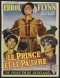"Movie Posters:Action, The Prince and the Pauper (Warner Brothers, R-1940s). Belgian (14""X 18.5""). Action...."