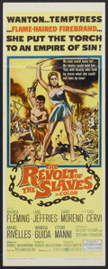 "Movie Posters:Adventure, The Revolt of the Slaves (United Artists, 1961). Insert (14"" X36""). Adventure...."