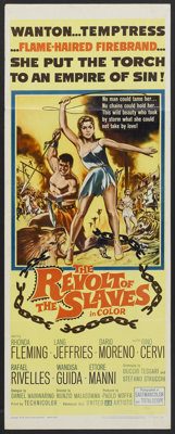 "The Revolt of the Slaves (United Artists, 1961). Insert (14"" X 36""). Adventure"