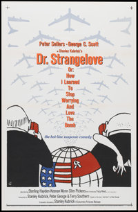 """Dr. Strangelove or: How I Learned to Stop Worrying and Love the Bomb. (Columbia, 1964). One Sheet (27"""" X 41"""")..."""