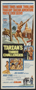 "Movie Posters:Adventure, Tarzan's Three Challenges (MGM, 1963). Insert (14"" X 36"").Adventure...."