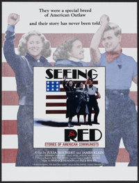 "Seeing Red (Heartland Productions, 1984). Poster (18"" X 24""). Documentary"