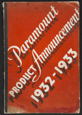 """Movie Posters:Miscellaneous, Paramount Exhibitor Book (Paramount, 1932-1933). Exhibitor Book(12"""" X 17""""). Various...."""