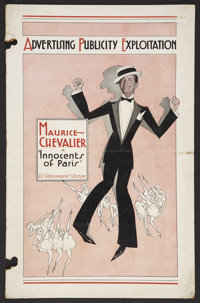 """Innocents of Paris (Paramount, 1929). Pressbook (Multiple Pages, 11"""" X 17""""). Musical"""