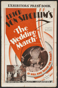 "The Wedding March (Paramount, 1928). Pressbook (Multiple Pages, 11"" X 17""). Drama"
