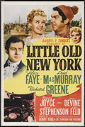 "Movie Posters:Comedy, Little Old New York (20th Century Fox, 1940). One Sheet (27"" X 41"")Style B. Comedy...."