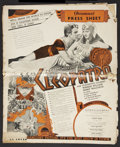 "Movie Posters:Historical Drama, Cleopatra (Paramount, 1934). Australian Pressbook (Multiple Pages,19"" X 23""). Historical Drama...."