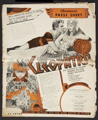 """Cleopatra (Paramount, 1934). Australian Pressbook (Multiple Pages, 19"""" X 23""""). Historical Drama"""