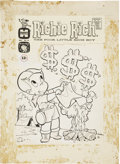Original Comic Art:Covers, Warren Kremer Richie Rich #10 Cover Original Art (Harvey,1962)....