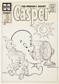 Original Comic Art:Covers, Warren Kremer The Friendly Ghost, Casper #4 Cover OriginalArt (Harvey, 1958)....