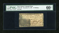 Colonial Notes:New Jersey, New Jersey December 31, 1763 12s PMG Uncirculated 60 Net....
