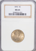 Liberty Nickels: , 1893 5C MS65 NGC. NGC Census: (71/8). PCGS Population (89/13).Mintage: 13,370,195. Numismedia Wsl. Price for NGC/PCGS coin...