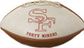 Autographs:Baseballs, 1972 San Francisco 49ers Signed Football. ...