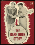 "Movie Posters:Sports, The Babe Ruth Story Lot (Allied Artists, 1948). Program (8.5"" X 11"")(16 Pages) and Letter (8.5"" x 11""). Sports.. ... (Total: 2 Items)"