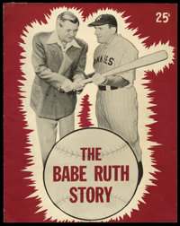 """The Babe Ruth Story Lot (Allied Artists, 1948). Program (8.5"""" X 11"""")(16 Pages) and Letter (8.5"""" x 11""""..."""