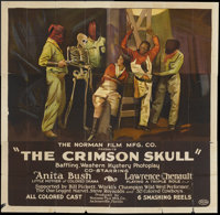 "The Crimson Skull (Norman, 1922). Six Sheet (81"" X 81"") and Pressbook. Black Films.... (Total: 2 Items)"