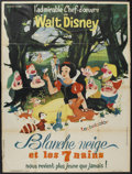 "Movie Posters:Animated, Snow White and the Seven Dwarfs (Walt Disney, R-1962). FrenchGrande (47"" X 63""). Animated...."