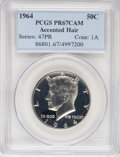 Proof Kennedy Half Dollars: , 1964 50C Accented Hair PR67 Cameo PCGS. PCGS Population (140/55).NGC Census: (263/186). Numismedia Wsl. Price for NGC/PCG...