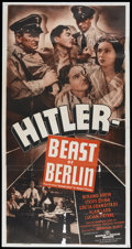 "Movie Posters:War, Hitler - Beast of Berlin (Producers Distributing Corp., 1939).Three Sheet (41"" X 81""). War...."