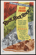 "Movie Posters:Rock and Roll, Rock, Rock, Rock (DCA, 1956). One Sheet (25.5"" X 40""). Rock andRoll...."
