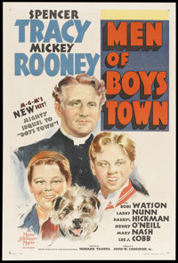 "Men of Boys Town (MGM, 1941). One Sheet (27.5"" X 41"") Style C. Drama"