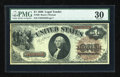 Large Size:Legal Tender Notes, Fr. 30 $1 1880 Legal Tender PMG Very Fine 30....