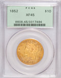 Liberty Eagles: , 1852 $10 XF45 PCGS. PCGS Population (65/120). NGC Census: (82/415).Mintage: 263,106. Numismedia Wsl. Price for NGC/PCGS co...