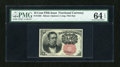Fractional Currency:Fifth Issue, Fr. 1265 10c Fifth Issue PMG Choice Uncirculated 64 EPQ....