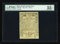 Colonial Notes:Rhode Island, Rhode Island May 1786 9d PMG About Uncirculated 55 EPQ....
