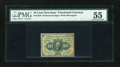 Fractional Currency:First Issue, Fr. 1240 10c First Issue PMG About Uncirculated 55....