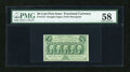 Fractional Currency:First Issue, Fr. 1312 50c First Issue PMG Choice About Unc 58....