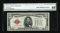 Small Size:Legal Tender Notes, Fr. 1525 $5 1928 Legal Tender Note. CGA Gem Uncirculated 66.. ...