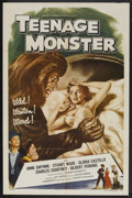 "Movie Posters:Horror, Teenage Monster (Howco, 1957). One Sheet (27"" X 41""). Horror...."