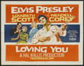 "Movie Posters:Elvis Presley, Loving You (Paramount, 1957). Half Sheet (22"" X 28""). ElvisPresley...."